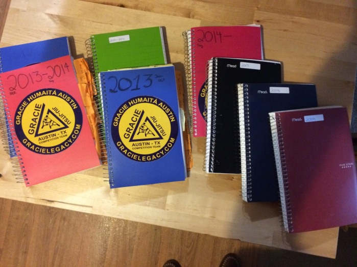 My notebooks from 2008 t0 2015